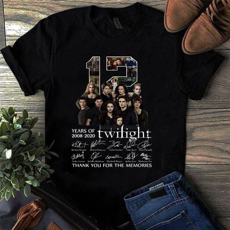 12 Years Of Twilight Thank You For The Memories Black Legend Movie T Shirt Men And Women S-6XL Cotton