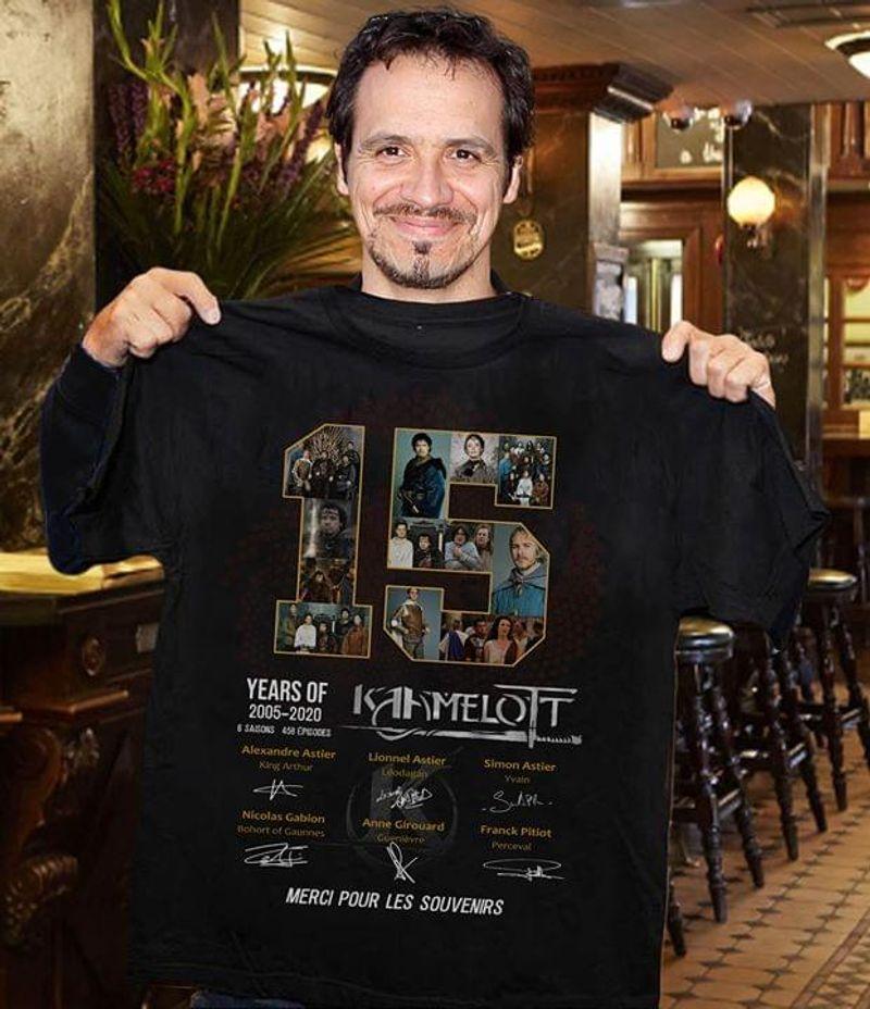 15 Years Of Kaamelott Merci Pour Les Souvenirs Signatures Black T Shirt Men/ Woman S-6XL Cotton