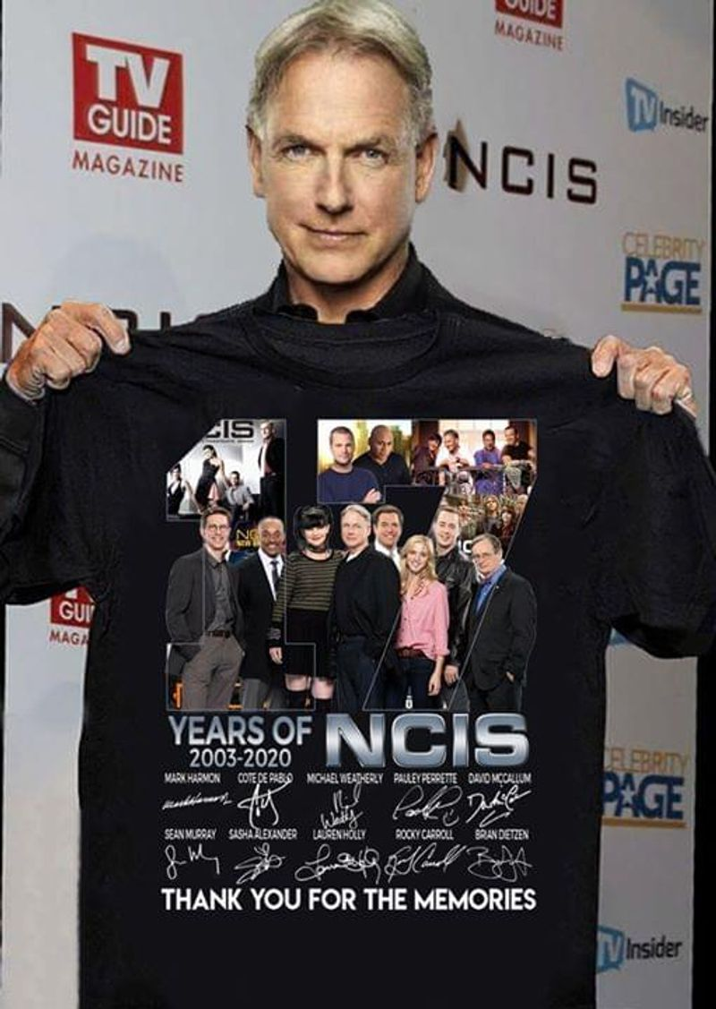 17 Years Of NCIS 2003-2020 NCIS Anniversary Best Gift For NCIS Fans Black T Shirt Men And Women S-6XL Cotton