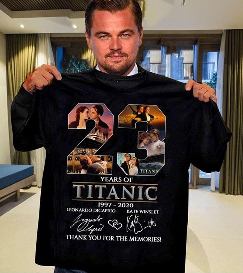 23 Years Of Titanic 1997-2020 Thank You For The Memories Legend Movie Black T Shirt Men And Women S-6XL Cotton