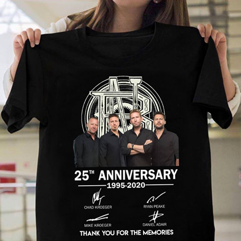 25th Anniversary 1995 2020 Signature Thank You For The Memories T-shirt Black A4
