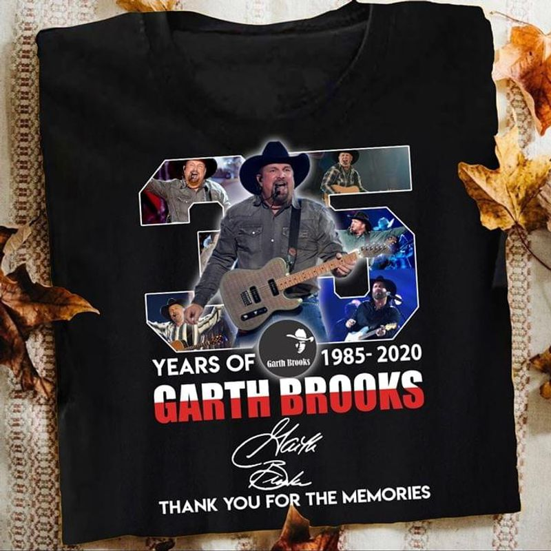 35 Years Of Garth Brooks Signature Thank You For The Memories BlackT Shirt Men/ Woman S-6XL Cotton