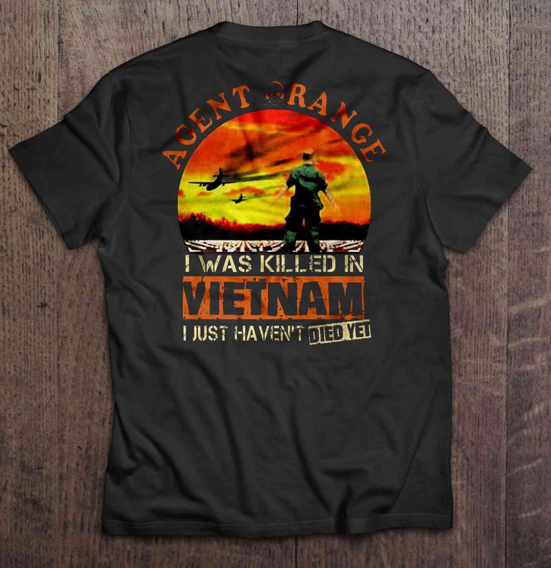 Agent Orange I Was Killed In Vietnam I Just Haven T Died Yet Veteran Version T-shirts Black