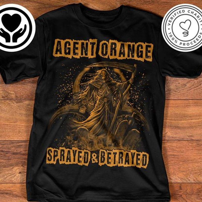 Agent Orange Sprayed Betrayed  T-shirt Black B1