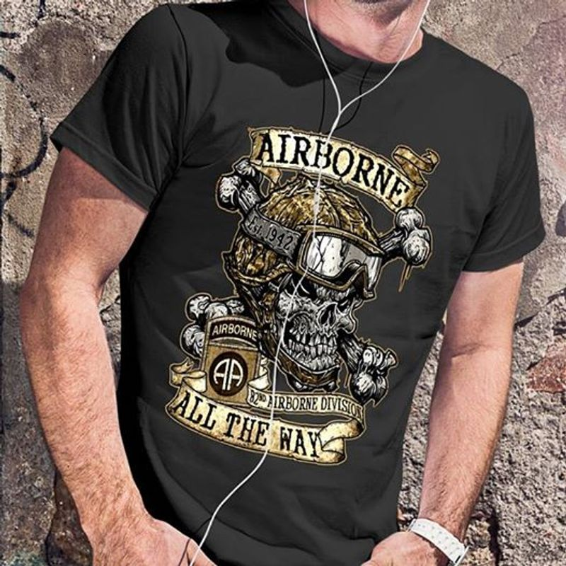 Airborne All The Way T-shirt Black A5