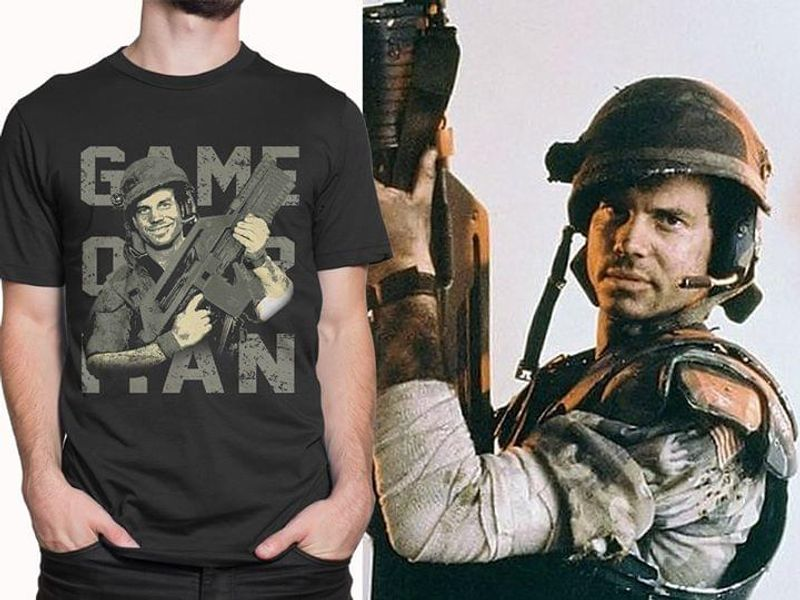 Aliens Movie Bill Paxton Game Over Man T Shirt S-6XL Mens And Women Clothing