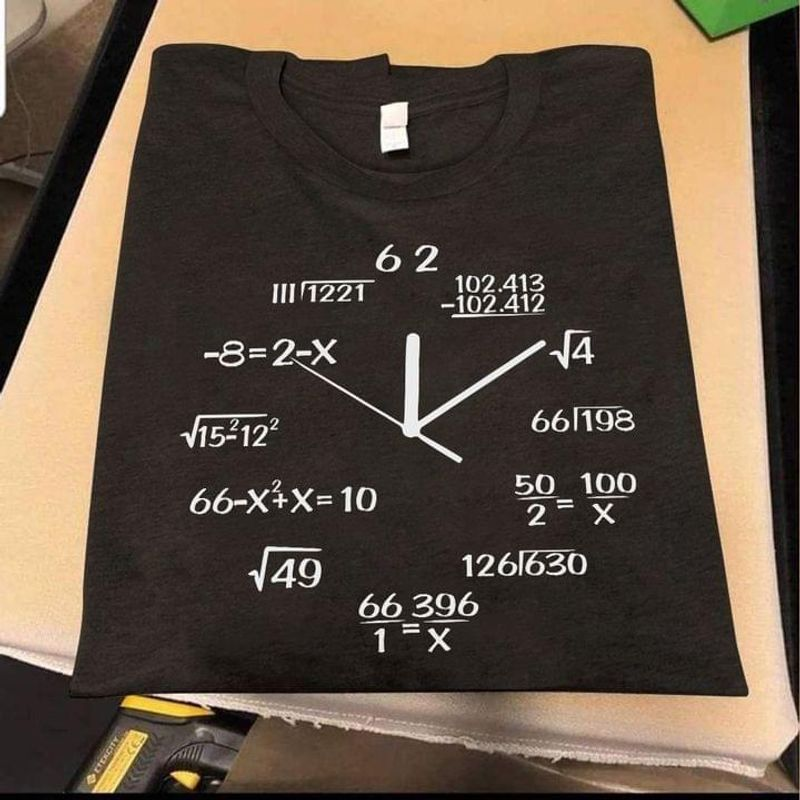 Amazing Science Love Math Shirt Clock Math Design Gift Idea Black T Shirt Men And Women S-6XL Cotton