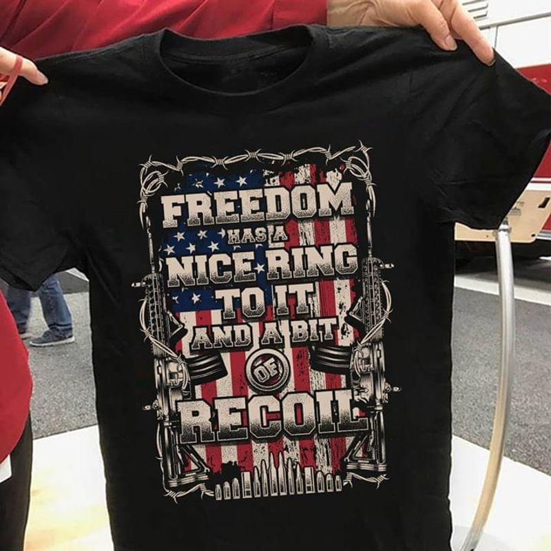 Ameican Flag Freedom Vintage 4Th July Independence Day Black Men Women Shirt