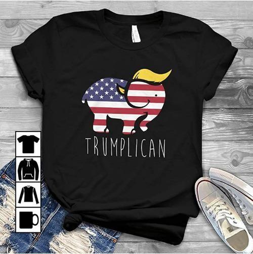 America Donald Trump Elephant Trumplican T-Shirt��