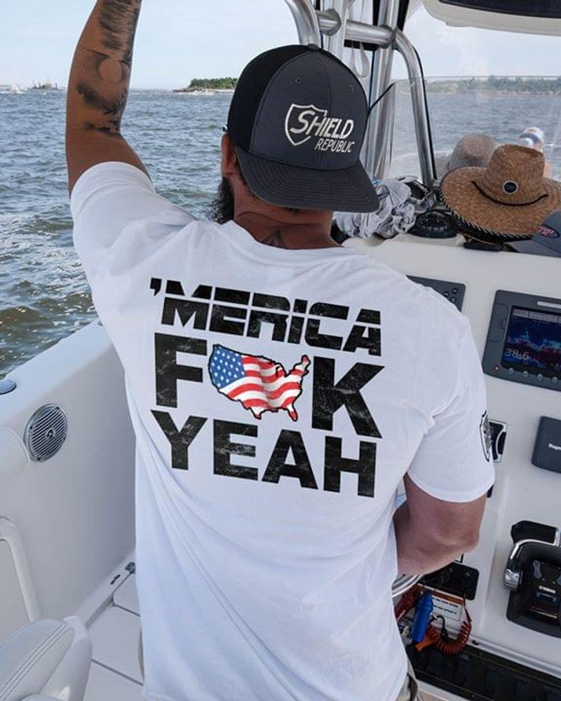America 'Merica F*ck Yeah Independence Day 4th Of July T Shirt S-6XL Men And Women Clothing