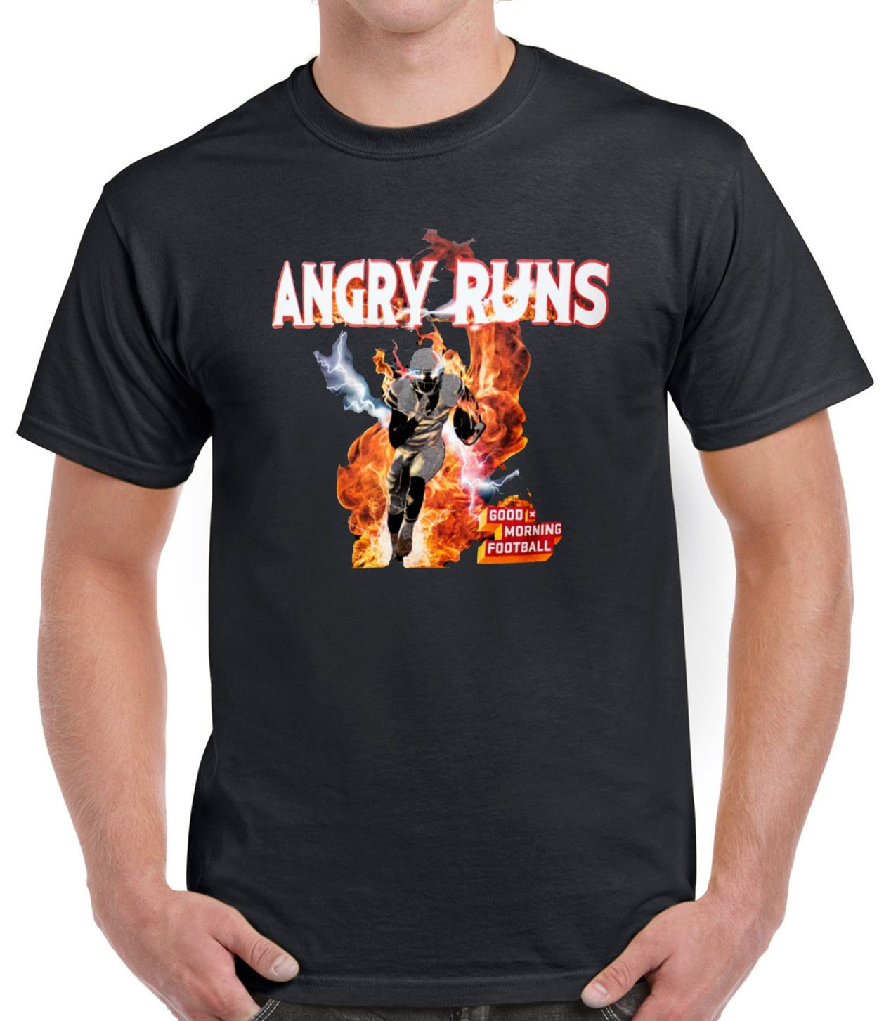 Angry Runs T-shirt Good Morning Football Shirt