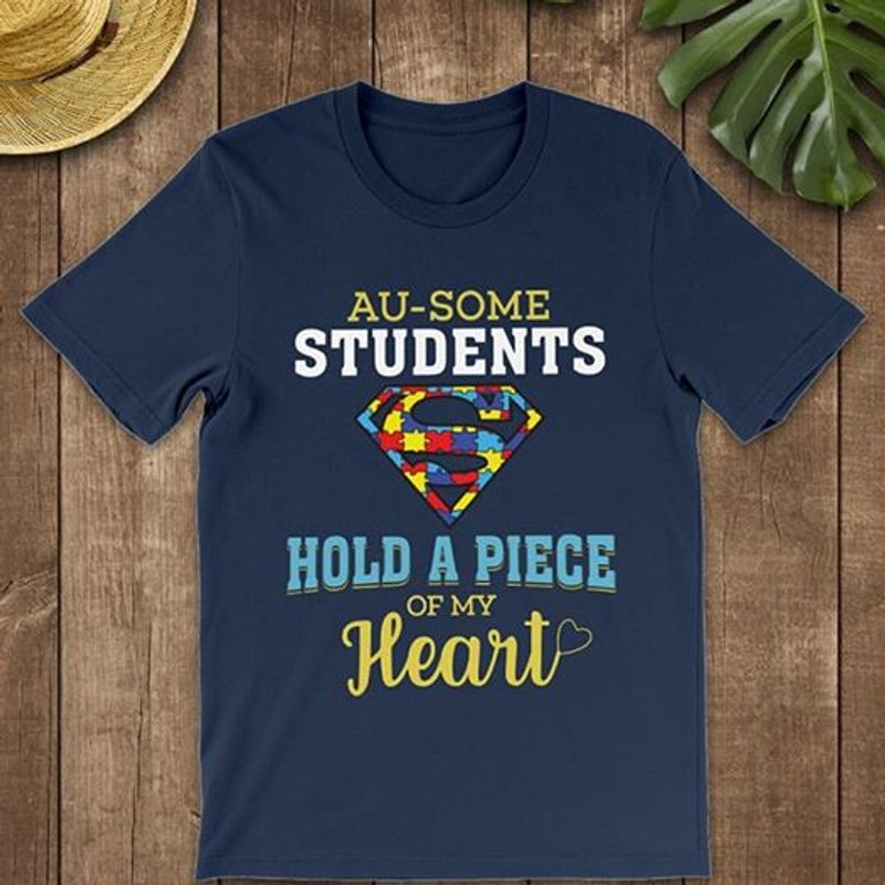Au Some Students Hold A Piece Of My Heart   T Shirt Blue B1