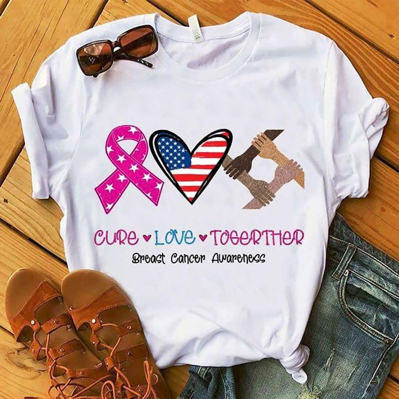 Autism Awareness Cure Love Togerther Breast Cancer Awaweness White T Shirt Men/ Woman S-6XL Cotton