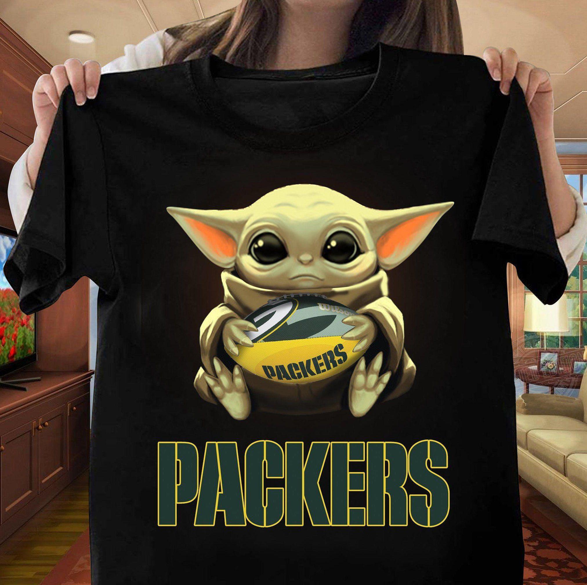 Baby Yoda Hug Green Bay Packer T-Shirt
