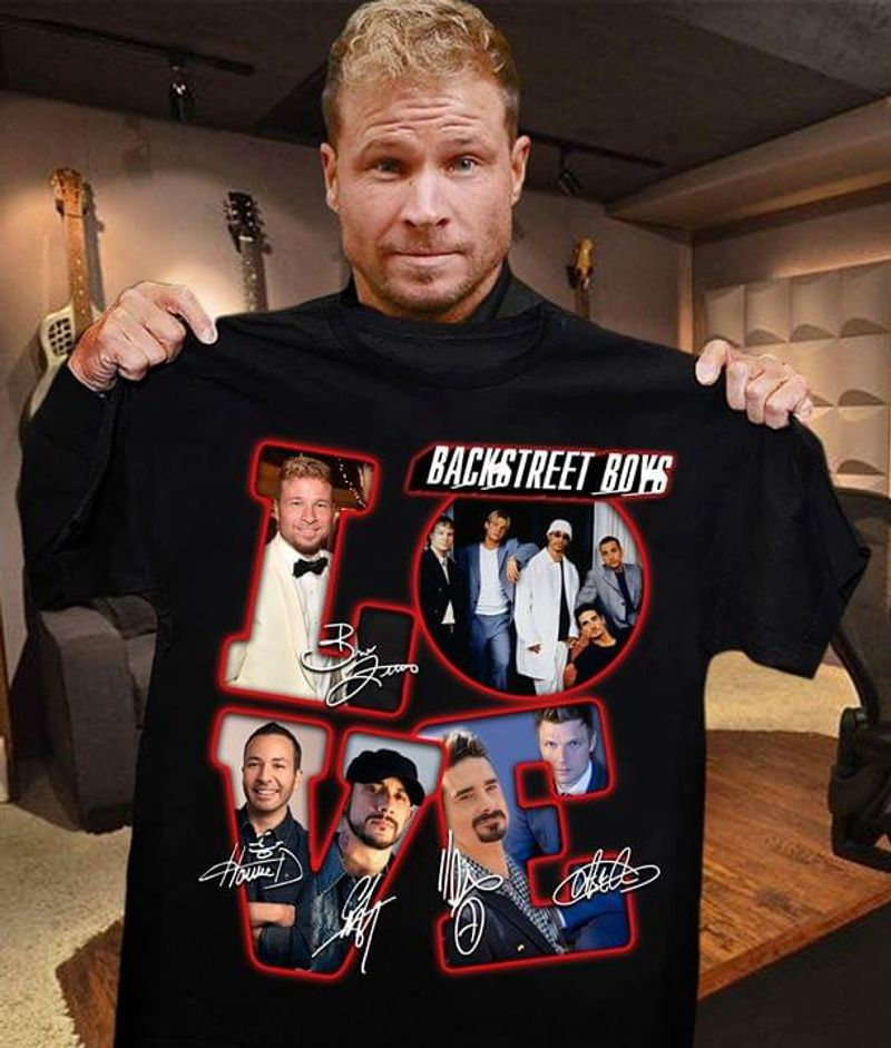 Backstreet Boys Lover Signatures Black T Shirt Men/ Woman S-6XL Cotton