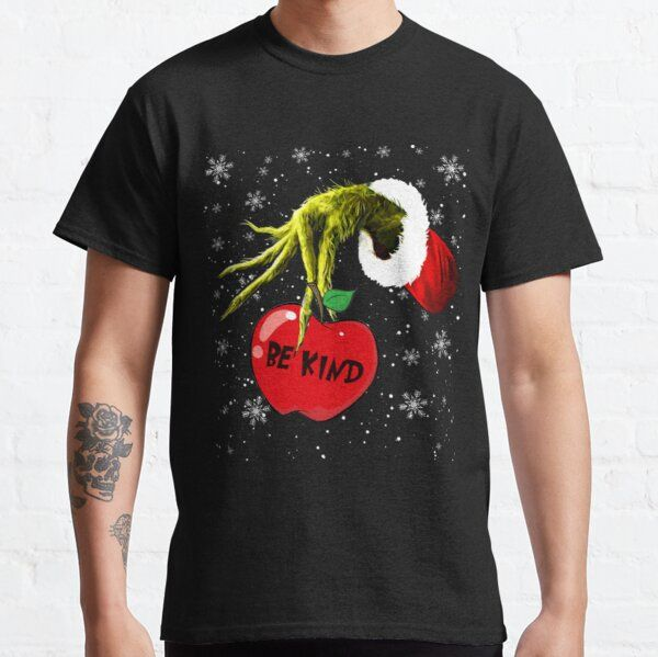 Be Kind Grinch Christmas T-Shirt T-Shirt