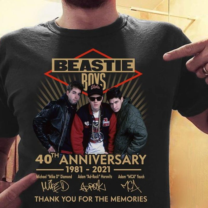 Beastie Boys 40th Anniversary Thank You For The Memories Signatures Black T Shirt Men/ Woman S-6XL Cotton