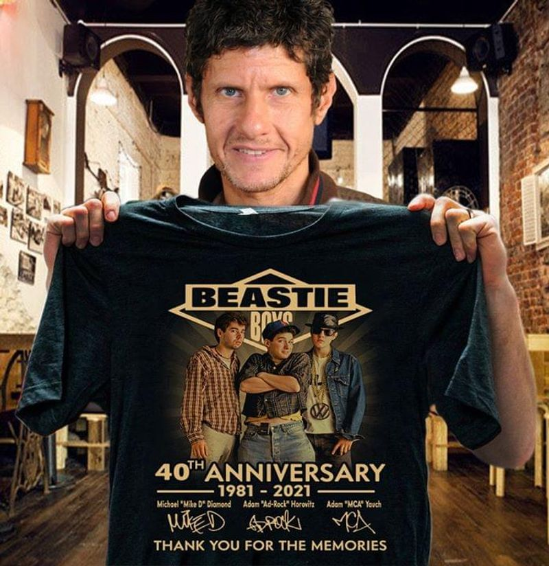Beastie Boys 40th Anniversary Thank You For The Memories Signatures T Shirt S-6XL Mens And Women Clothing