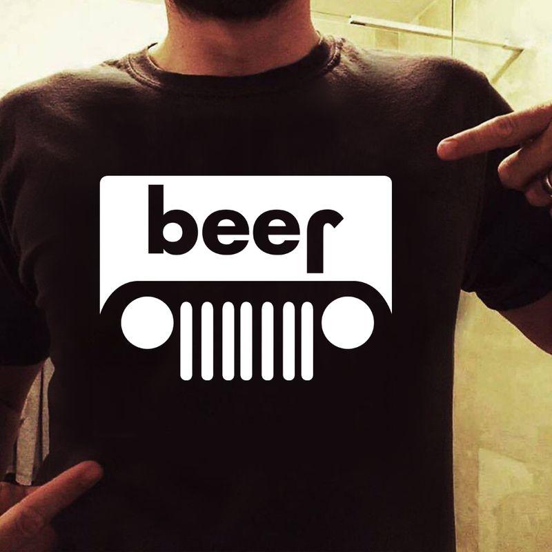 Beer Bus T Shirt Black B5