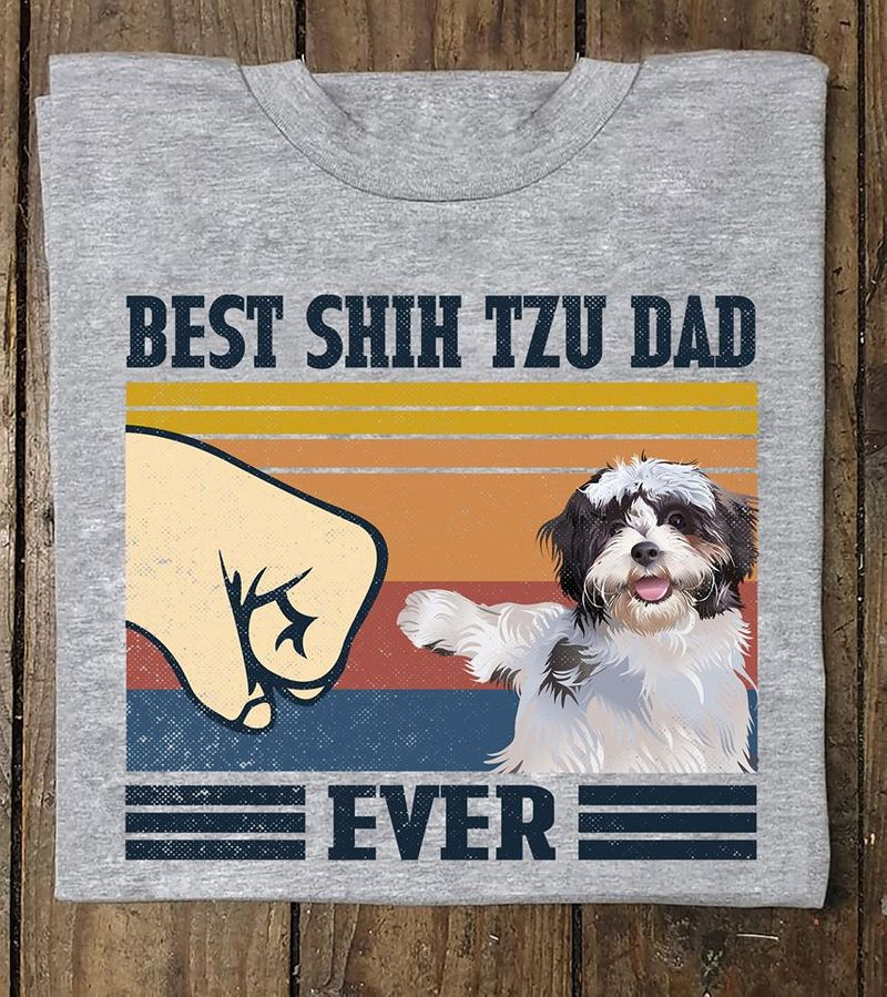 Best Shih Tzu Dad Ever T-shirt Grey