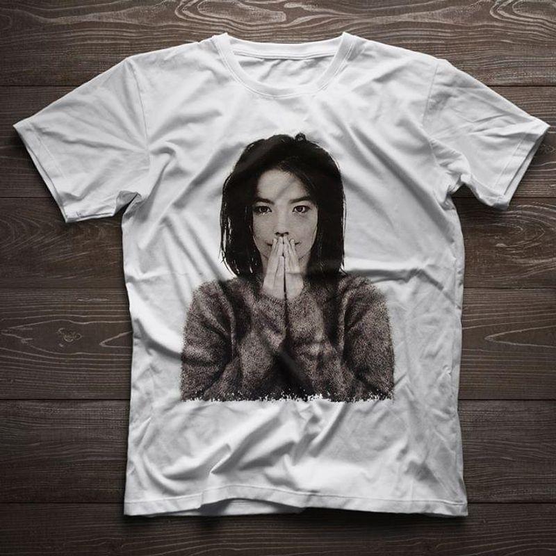 Björk Fan Club Music Album Debut Fans Gift White T Shirt Men And Women S-6XL Cotton