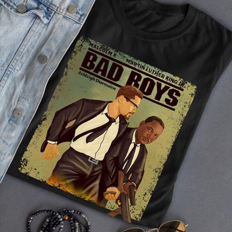 Black Girls Are Beautiful Gun Martin Luther King Bad Boys Vintage Suit Black T Shirt Men And Women S-6XL Cotton