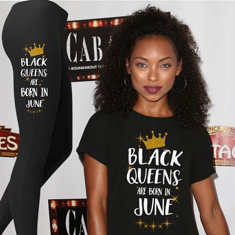 Black Queens Are Born In June  T-shirt Black A8