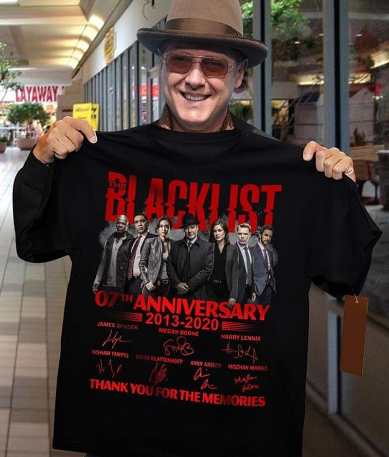 Blacklist 07Th Anniversary 2013 2020 Thank You For The Memories Black T Shirt Men And Women S-6XL Cotton