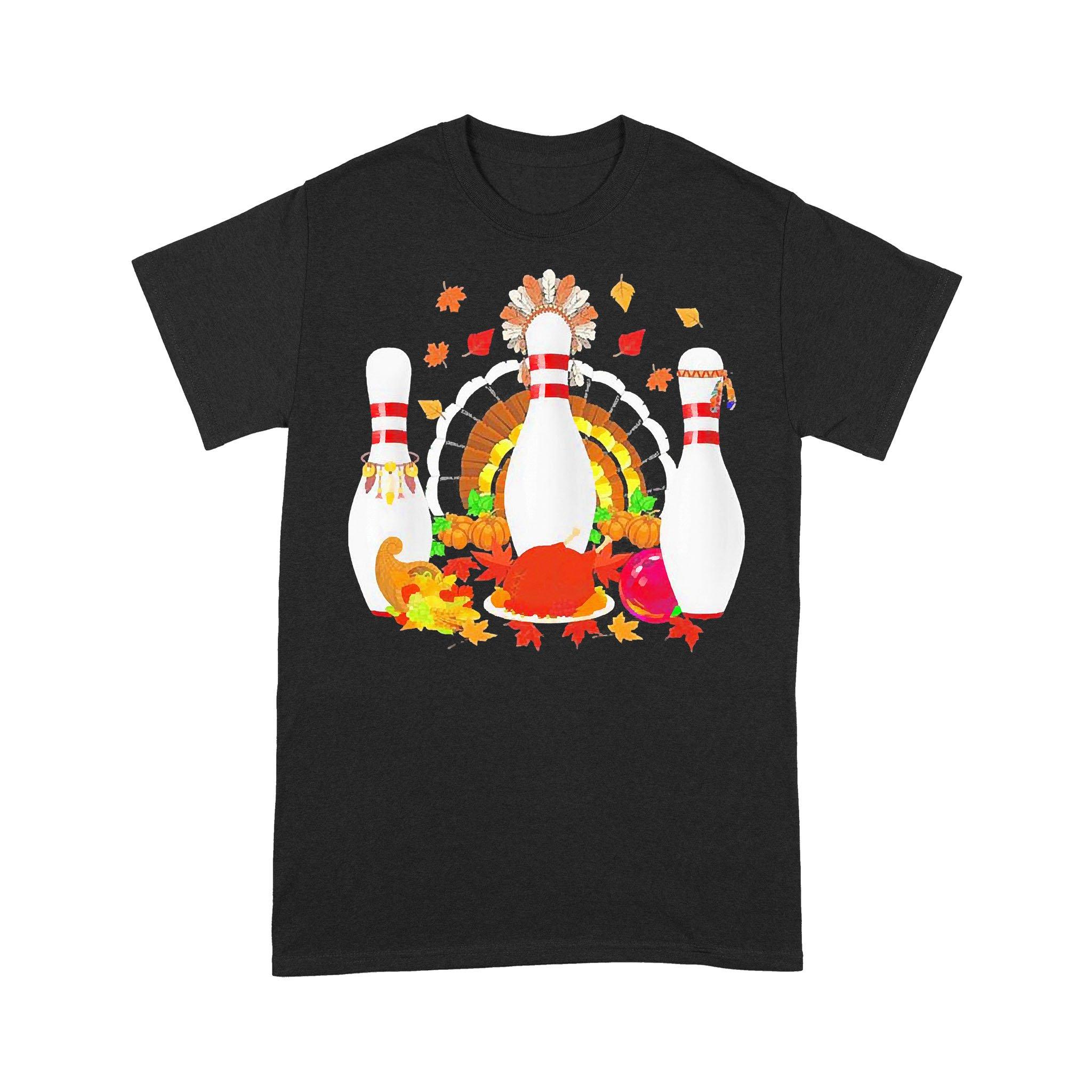 Bowling Native American Thanksgiving T-shirt