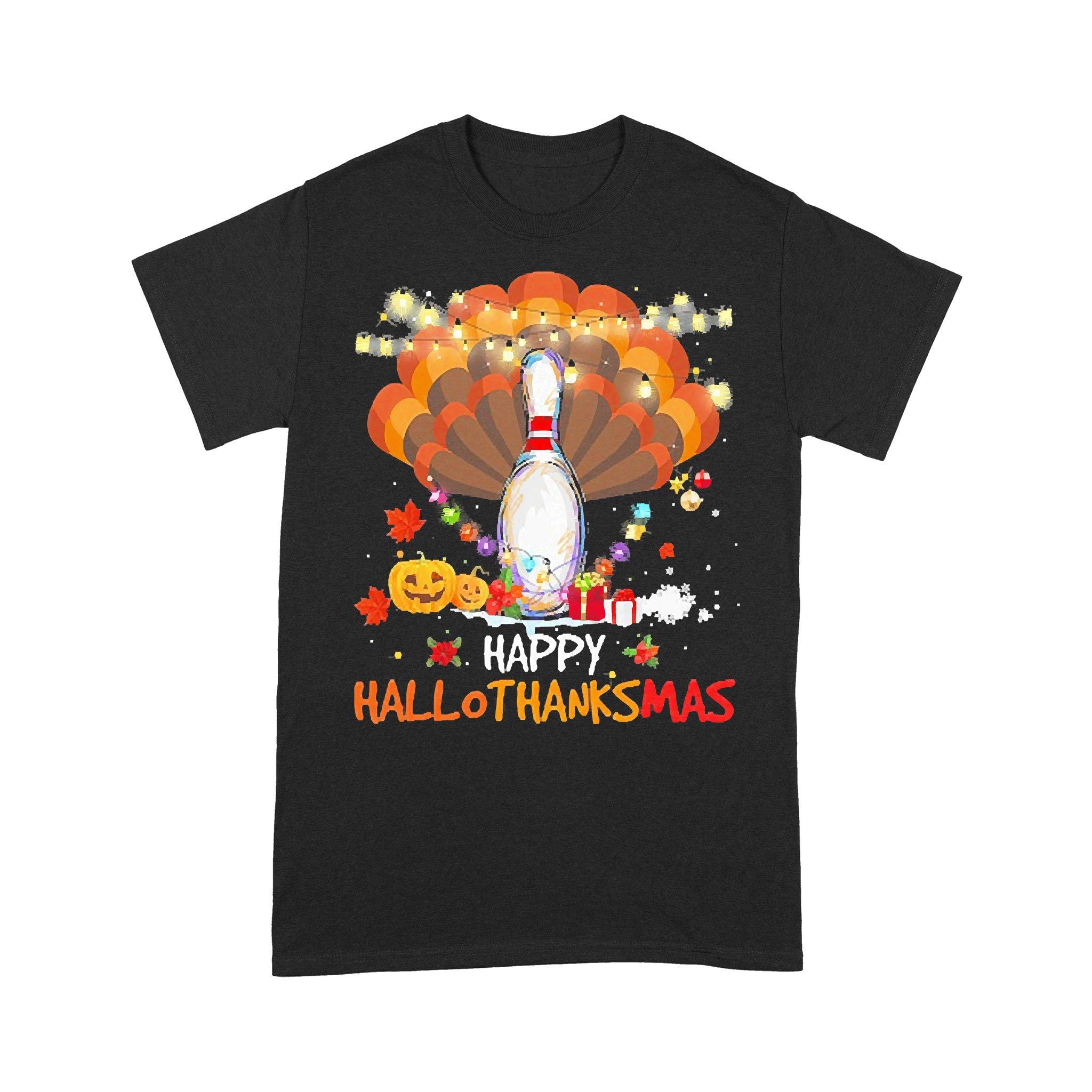 Bowling Turkey Happy Hallothanksmas T-shirt