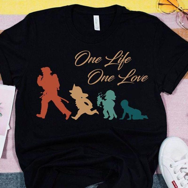 Boy One Life One Love Black T Shirt Men/ Woman S-6XL Cotton