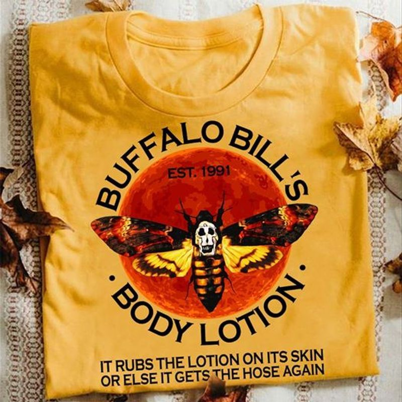Buffalo Bills Body Lotion The Silence Of The Lambs T Shirt Yellow