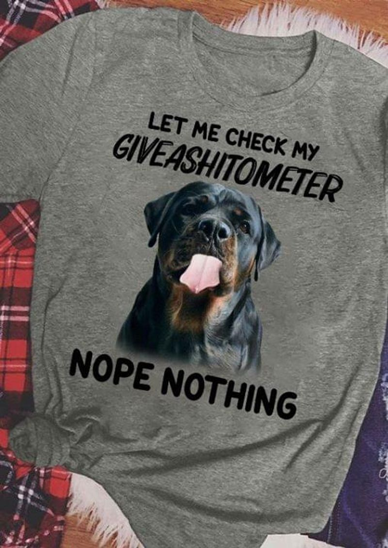 Bulldog Nope Nothing Let Me Check My Give A Shitometter Animals Lover Grey T Shirt Men And Women S-6XL Cotton