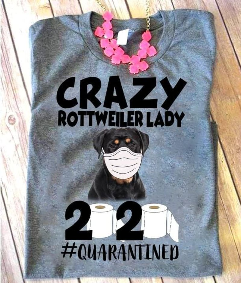 Bulldog Wearing Medical Mask Crazy Rottweiler Lady 2020 Toilet Paper Grey T Shirt Men And Women S-6XL Cotton