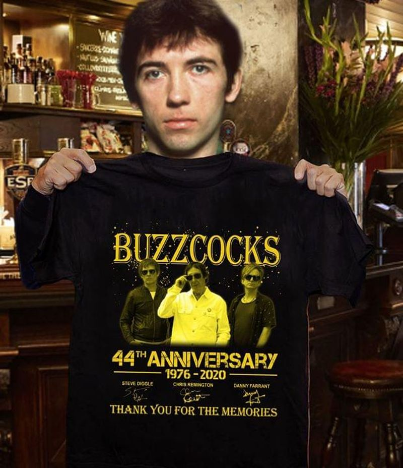 Buzzcocks Fans 44th Anniversary Thank You For The Memories Signature Black T Shirt Men And Women S-6XL Cotton