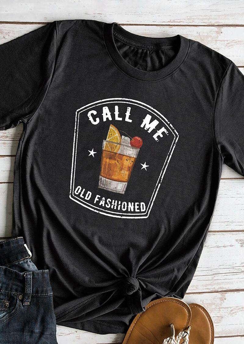 Call Me Old Fashioned Shirt Black