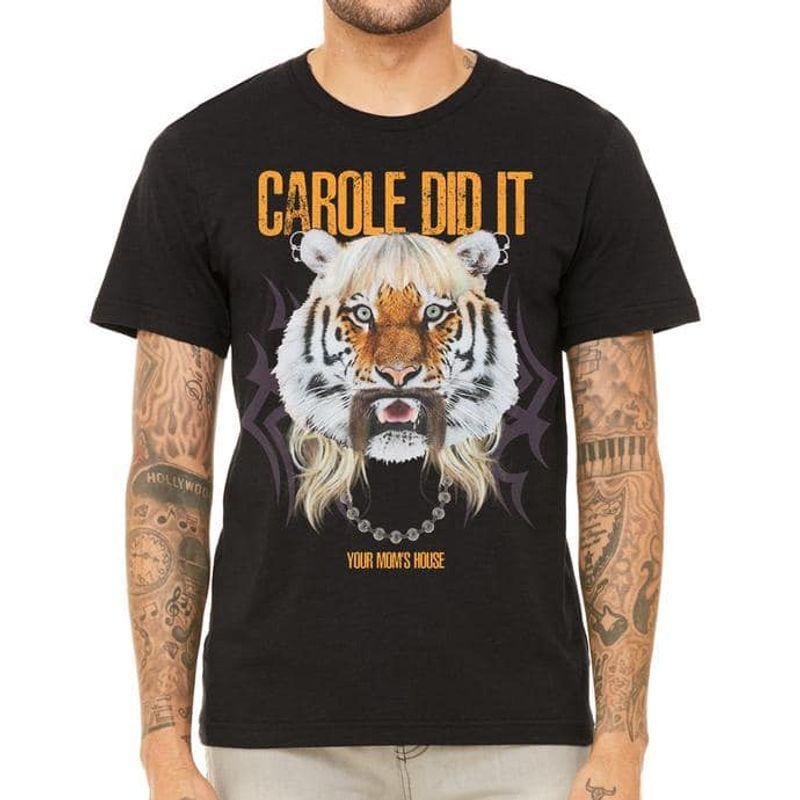 Carole Did It Your Mons House T-shirt Black