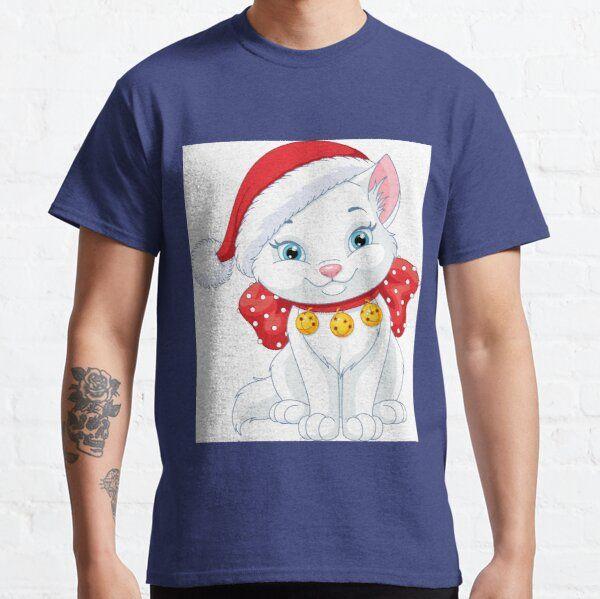 Cat Christmas Tshirts Man Woman Children Gifts T-Shirt
