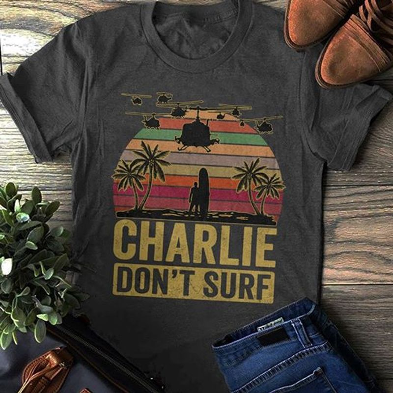 Charlie Dont Surf T-shirt Black