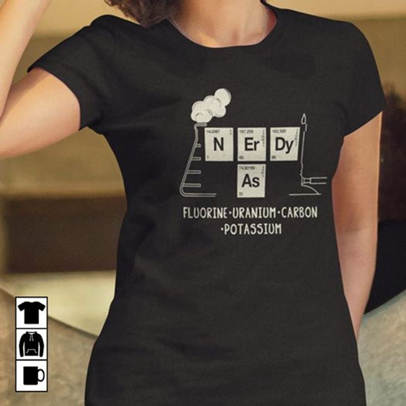 Chemistry Fluorine Uranium Carbon Potassium T-shirt Black A5
