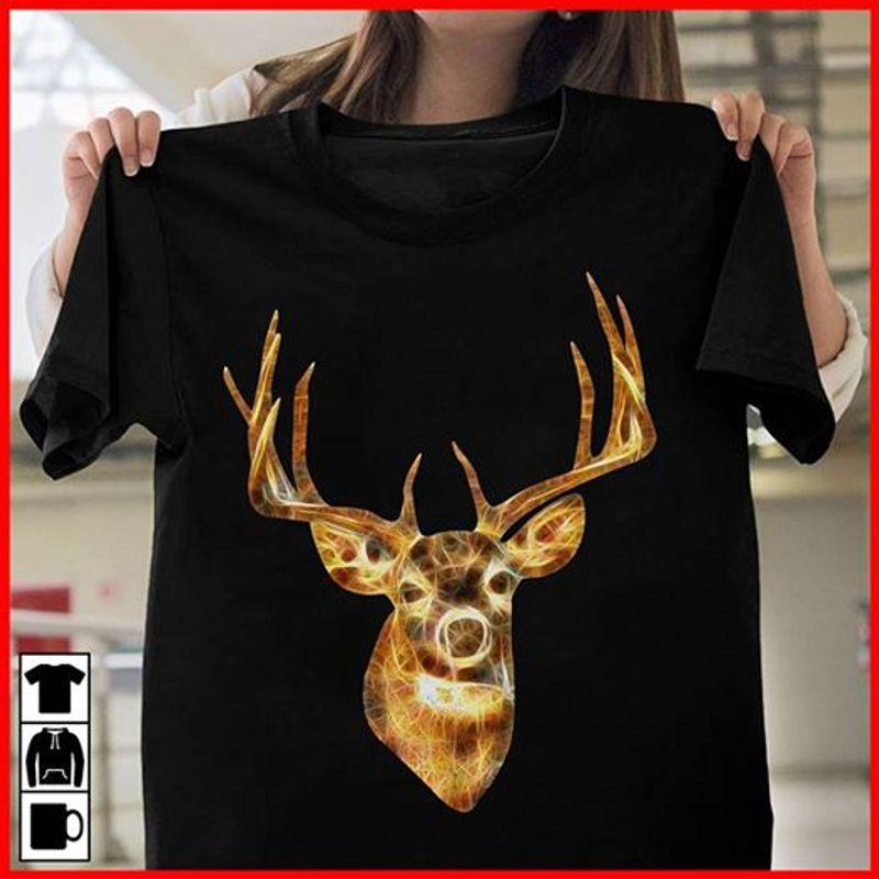 Christmas Deer T-shirt Black C2