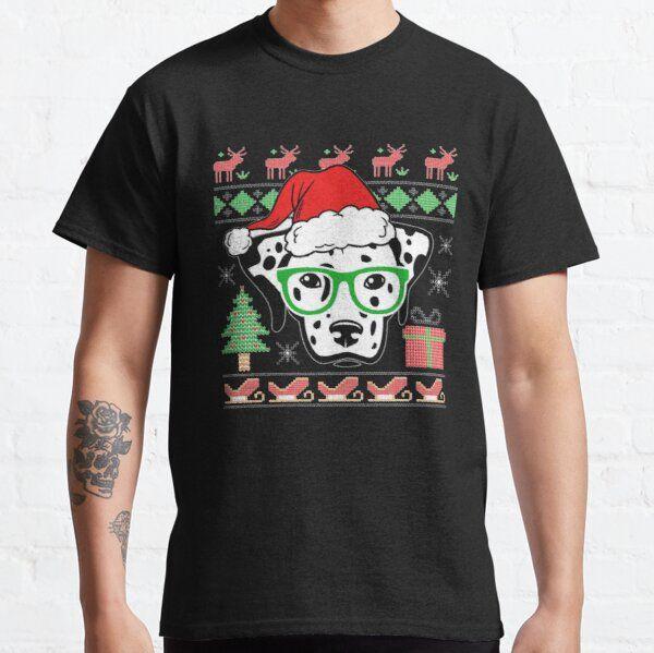 Christmas Raglan Shirt, Dalmatian Christmas, Christmas Sweater Party, T-Shirt