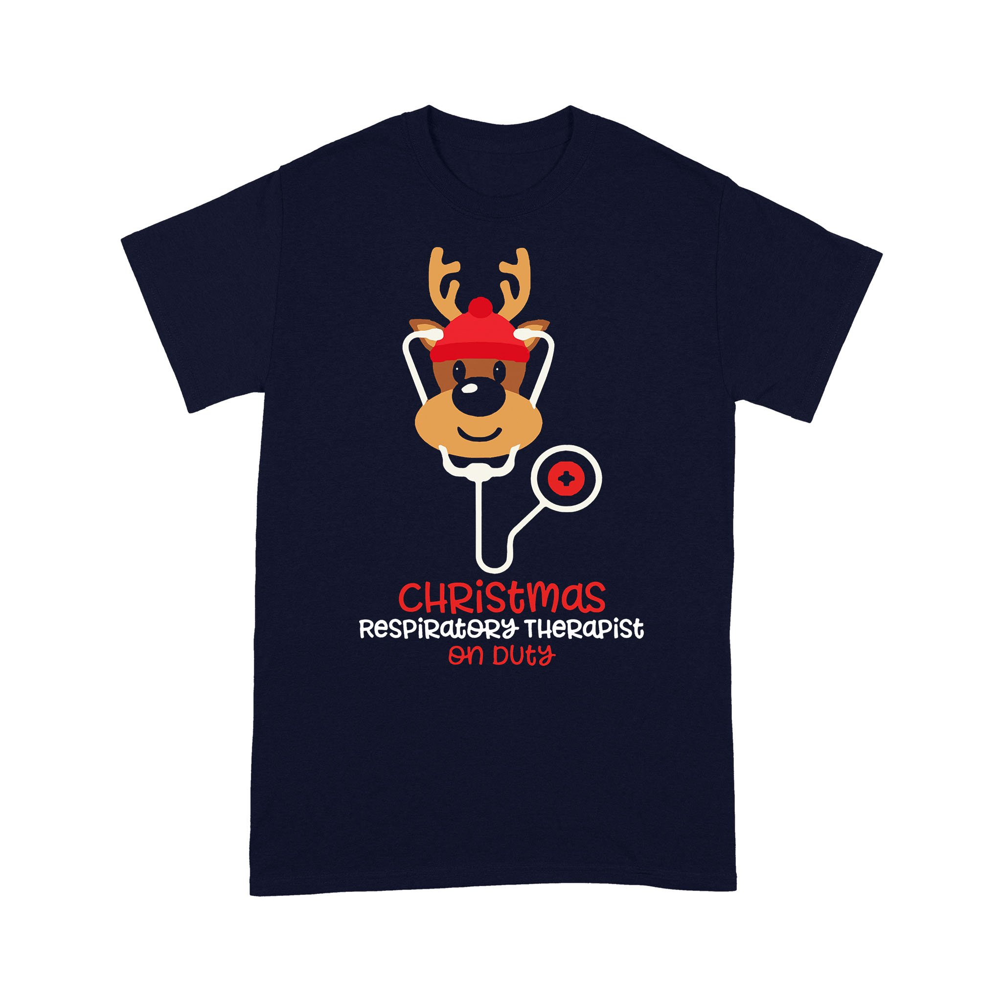 Christmas Respiratory Therapist Reindeer Nurse On Duty T-shirt