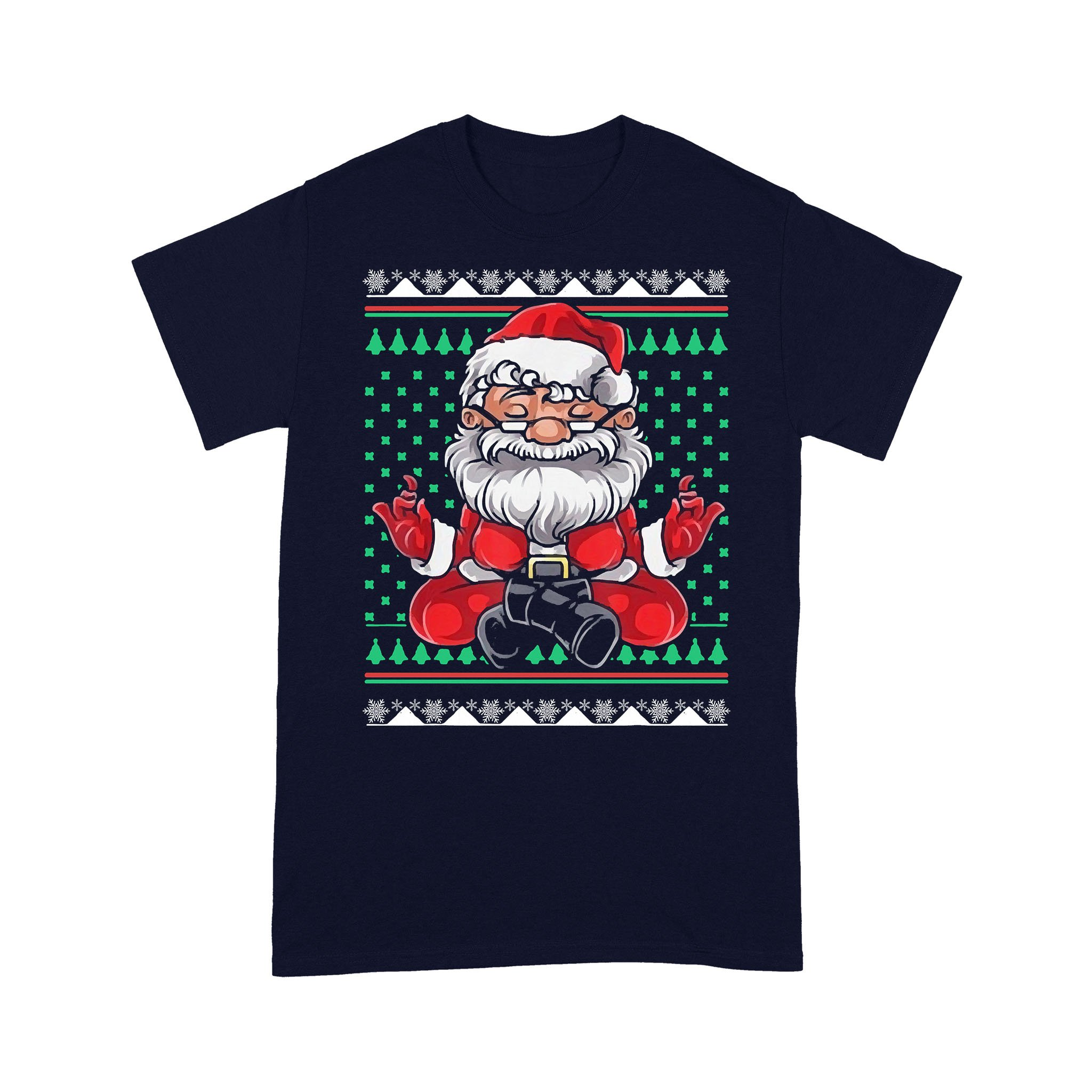 Christmas Santa Yoga T-shirt