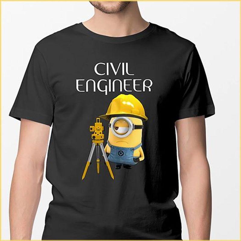 Civil Engineer Minion Tshirt Black A2