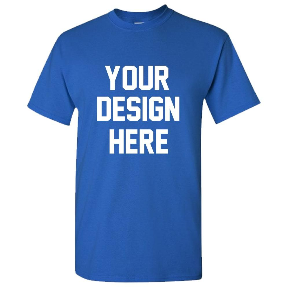 Create Your Own And Text Design Custom Personalized Adult T-Shirt