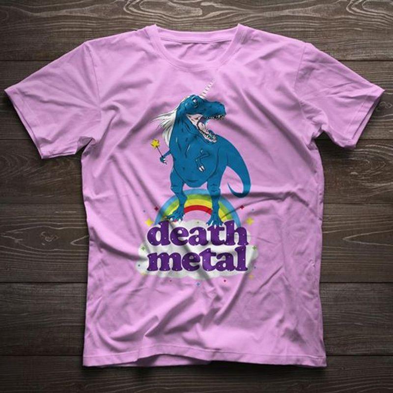Death Metal T-shirt Pink A4