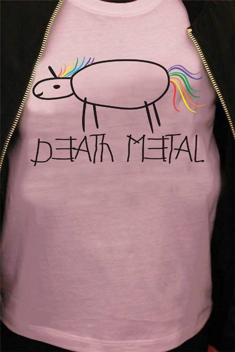 Death Metal  T-shirt Pink A5