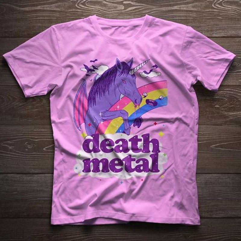 Death Metal Unicorn T-shirt Purple A8