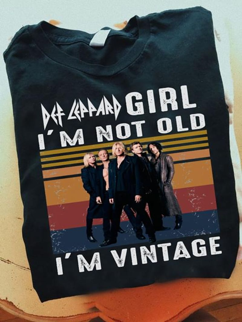 Def Leppard Lovers I'm Not Old I'm Vintage Black T Shirt Men/ Woman S-6XL Cotton